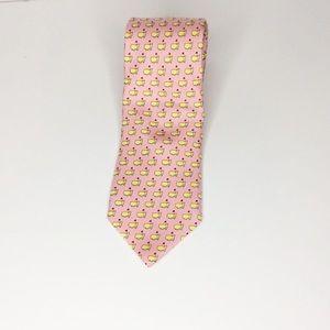 Men Vineyard Vines Augusta National Neck Tie Pink